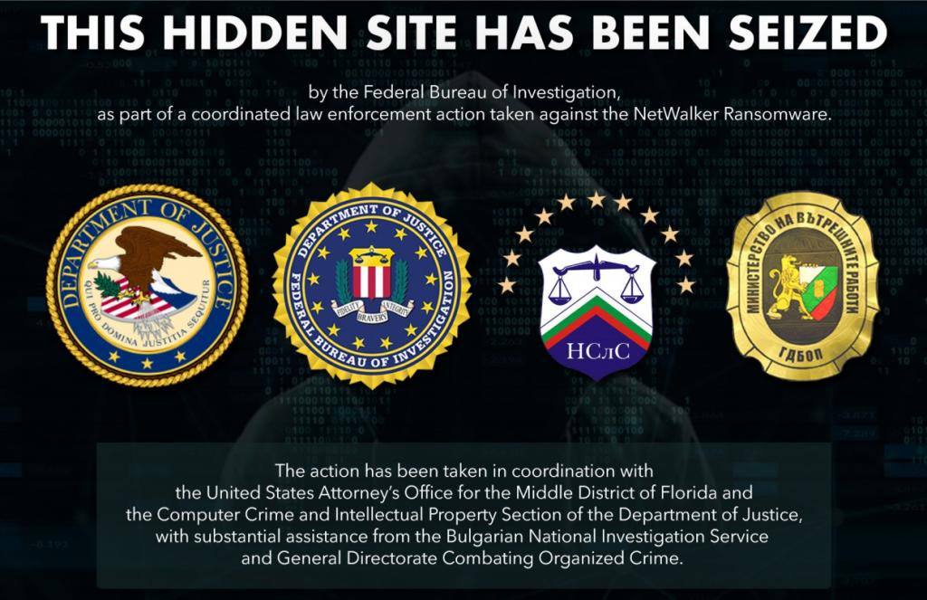 美国执法部门查封勒索软件Netwalker及其暗网网站