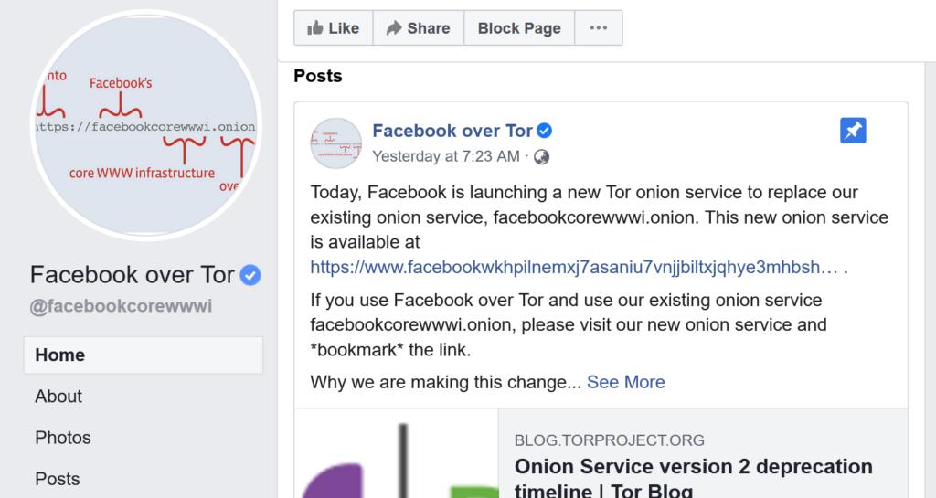 Facebook终于推出新的V3 onion暗网域名
