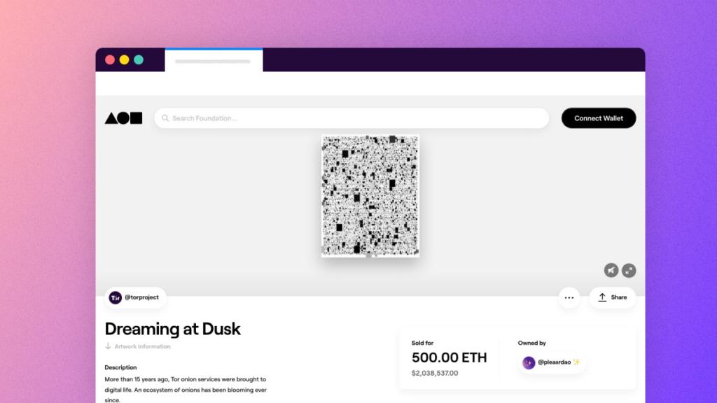 Dreaming at Dusk:Tor项目的NFT拍卖(Tor官方)