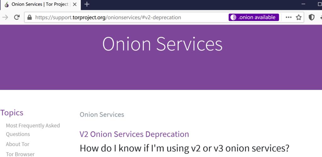 Tor Project关于V2洋葱服务的废弃说明