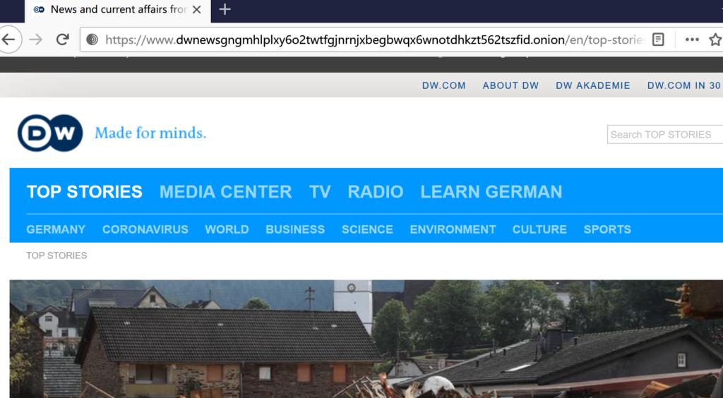 新闻媒体德国之声(dw.com)暗网网站升级V3域名