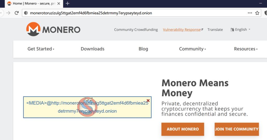 门罗币(Monero)官方网站的洋葱镜像推出了暗网V3域名