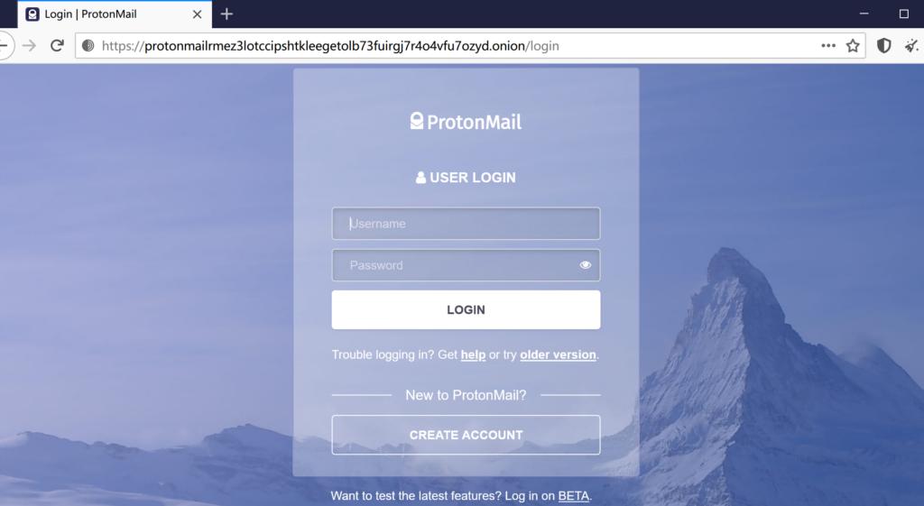 最安全的端到端加密邮箱ProtonMail更新暗网V3域名