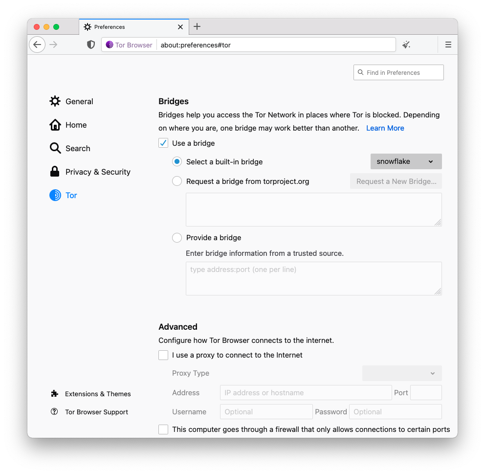 Tor浏览器10.5版本发布,提升连接Tor的用户体验,雪花成为默认代理选项